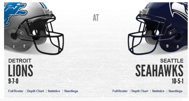 Seattle Seahawks Wildcard Playoff Game – January 7 @ CenturyLink Field